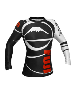 Fuji Sports Freestyle IBJJF Ranked Rashguard langarm schwarz