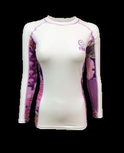 Fuji Sports Kimono Rashguard Damen Weiss/rosa