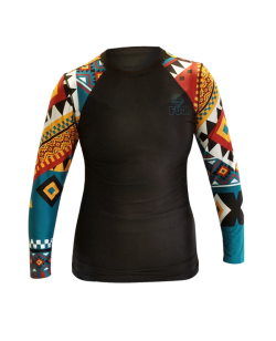 Fuji Sports Tribal Rashguard Damen schwarz