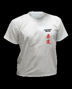 T-Shirt Judo grau mit Bestickung