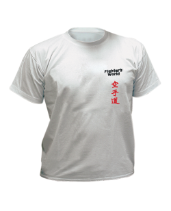 T-Shirt Karate grau mit Bestickung