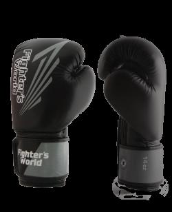 FW Black CORNER Boxhandschuhe Klettverschluss schwarz/grau