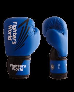 FW Blue CORNER Boxhandschuhe Klettverschluss blau/schwarz