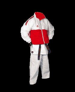 FW Team Sports Laufjacke Gr. XL weiss/rot XL