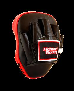 FW Handpratze FOCUS Leder original thail. Handmitt Leder gekrümmt rot/schwarz