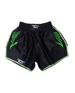 FW CORNER Thaibox Hose schwarz/grün Muay Thai Short
