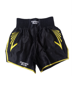 FW CORNER Thaibox Hose schwarz/gelb Muay Thai Short