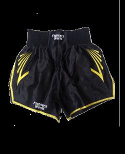 FW CORNER Thaibox Hose schwarz/gelb L Muay Thai Short L