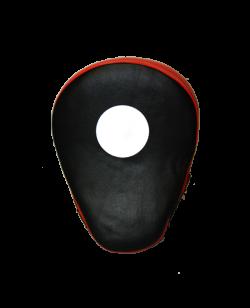FW Handmitt curved, Cubapad Leder rot/schwarz 1Stk.