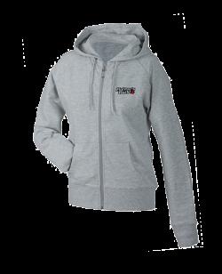 FW Damen Hoodie Basic mit Zip, Kapuzensweater grau