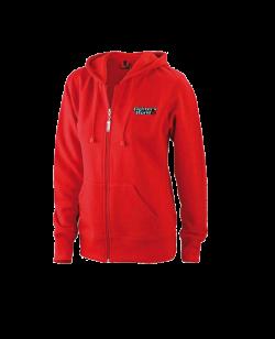 FW Damen Hoodie rot Kapuzensweater mit Zip