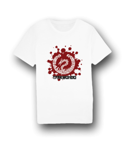 FW T-Shirt Dragon Taekwondo weiss