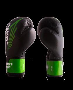 FW Green CORNER Boxhandschuhe 14 oz Klettverschluss grün/schwarz 14oz