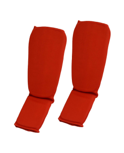 FW Schienbein und Ristschutz Stoff size rot