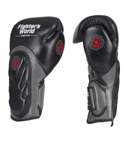Fighter`s World  FIRESTORM Boxhandschuhe schwarz