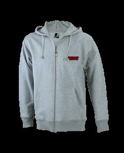 FW Hoodie Basic mit Zip, Kapuzensweater grau