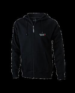 FW Hoodie Basic mit Zip, Kapuzensweater schwarz