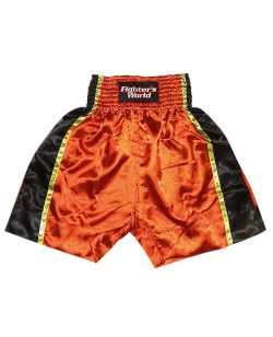 FW-Thaishort Slammer Longstyle, Satin orange/schwarz