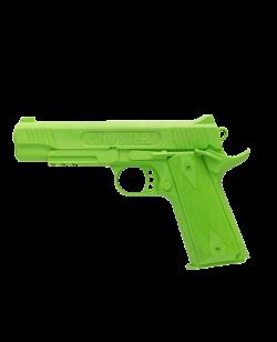 FW Trainingswaffe Gummi Pistole Green Gun 1911 grün Self Defense