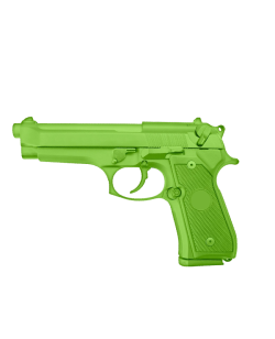 FW Trainingswaffe Gummi Pistole Green Gun Modell 92 grün Self Defense