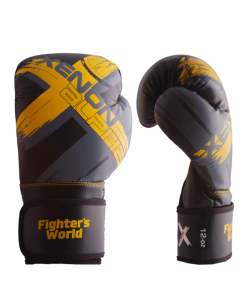 FW XENON ALPHA Boxhandschuhe oz black/yellow/grey