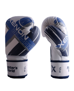 Fighter`s World  XENON ALPHA Boxhandschuhe 12 oz ice/neon blue 12oz