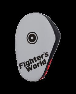 Fighter`s World Handpratze JAB & HOOK Punch Mitts grey/black/red 1Paar