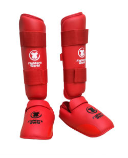 FW Karate Schienbein Fußschutz rot Fighter`s World