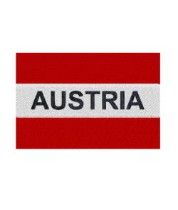 Aufnäher AUSTRIA gewebtes Abzeichen zum Aufbügeln Gr. 10 x 7cm