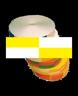 Gürtelrolle 50 m weiß/gelb