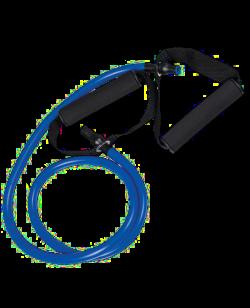 Expander - Gummi Trainingsband Tube blau - schwer, ca. 140cm