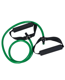 Expander - Gummi Trainingsband Tube grün - mittel, ca. 140cm