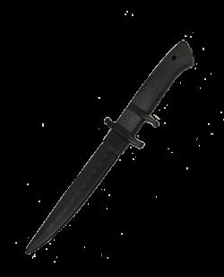 FW Trainingswaffe Gummi Messer COMMANDO Klinge ca.19 cm schwarz