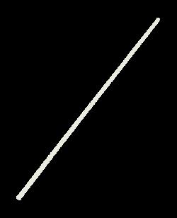 Gun Stab aus weißer Esche gerade 2,5cm dick