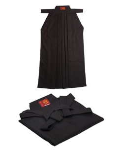 Tengu Hakama Black Tetron  Gr.180 #27 Länge 102cm schwarz 180cm