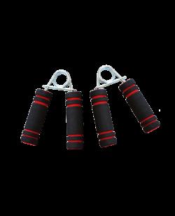 Hand-Grifftrainer Schaumstoffgriffe schwarz/rot paarweise