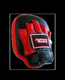 FW Handpratze CLASSIC Leder original thail. Coaching Mitt gerade rot/schwarz