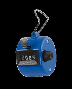 Handzähler Klick aus Kunststoff blau, mechanisch