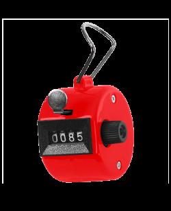 Handzähler Klick aus Kunststoff rot, mechanisch