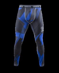 Hayabusa Metaru 47 Silver Compression Pants blau L