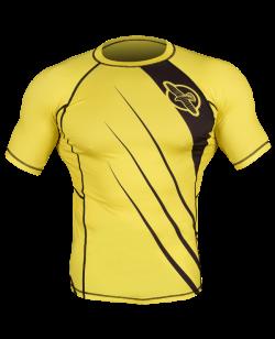 Hayabusa Recast Rashguard Kurzarm gelb/schwarz