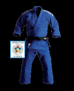 adidas J930B Slim Fit Champion Gi 165 Judo Anzug blau IJF 165cm