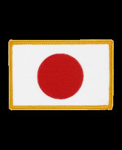 Aufnäher Stickabzeichen Japan Flagge
