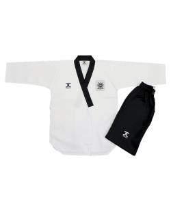 JCalicu Male Poomsae Dan Practice Ribbed Uniform 180 WTF Approved JC-2004 180cm