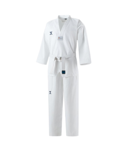 JCalicu CLUB Ribbed Uniform Gr.130  white Collar WTF approved JC-4002 130cm