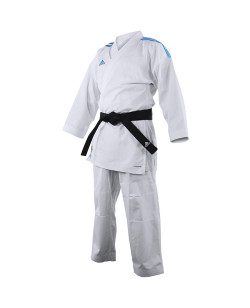adidas K191SK Kumite Karate Anzug adiLight mit blauen Schulterstreifen