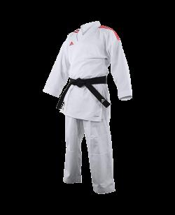 adidas K191SK Kumite Karate Anzug adiLight mit roten Schulterstreifen