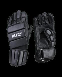 Kali Escrima Handschuhe schwarz Leder