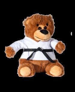 FW Stofftier Teddy the Black Belt Fighter