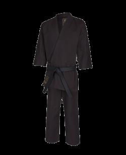 FW Karate Gi TORA 14oz Canvas Anzug schwarz